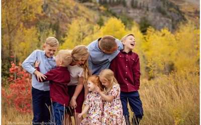 Yellow Aspens | Utah County Family Photographer